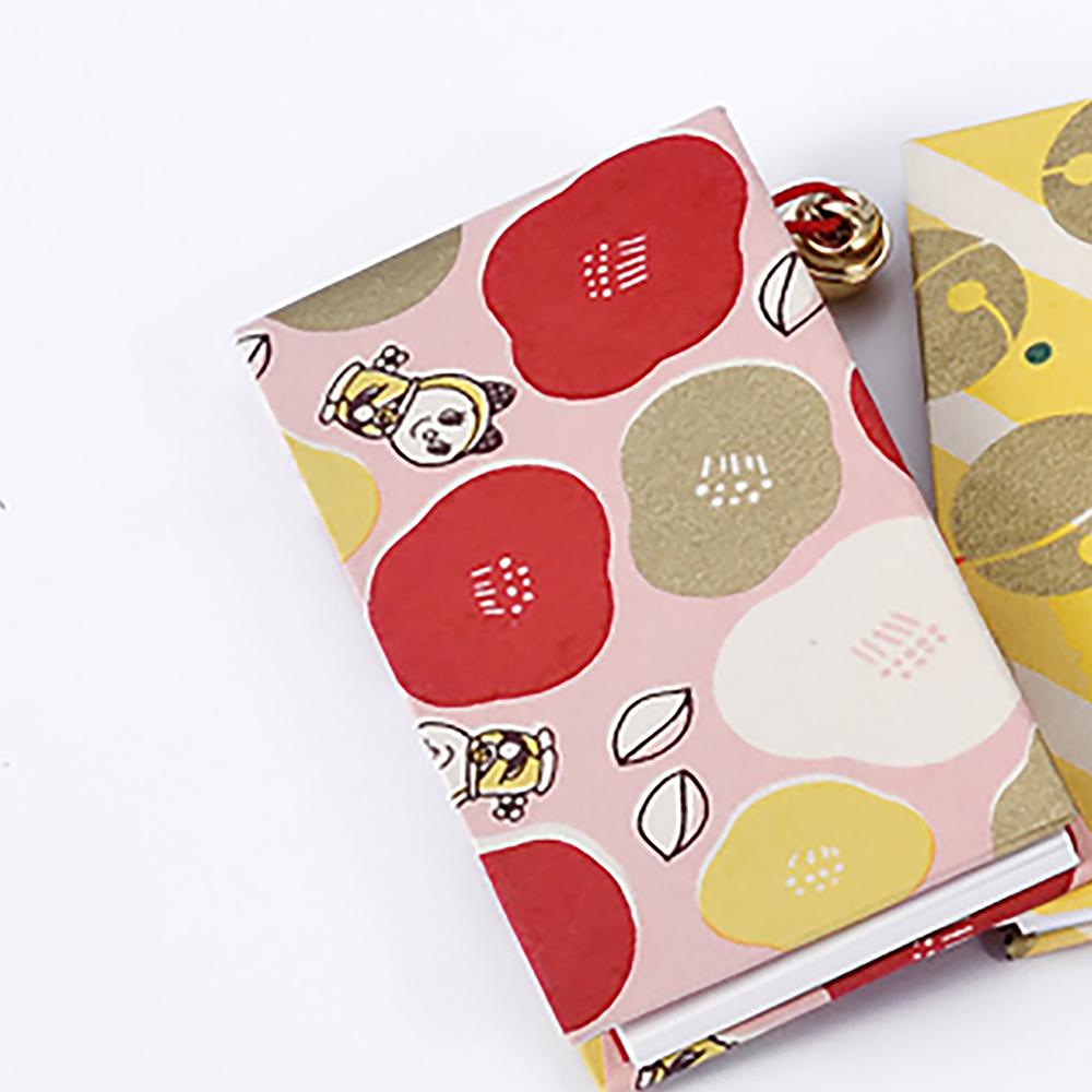 ドラえもん 鈴つきメモ帳【ドラミはんなり椿 ピンク】