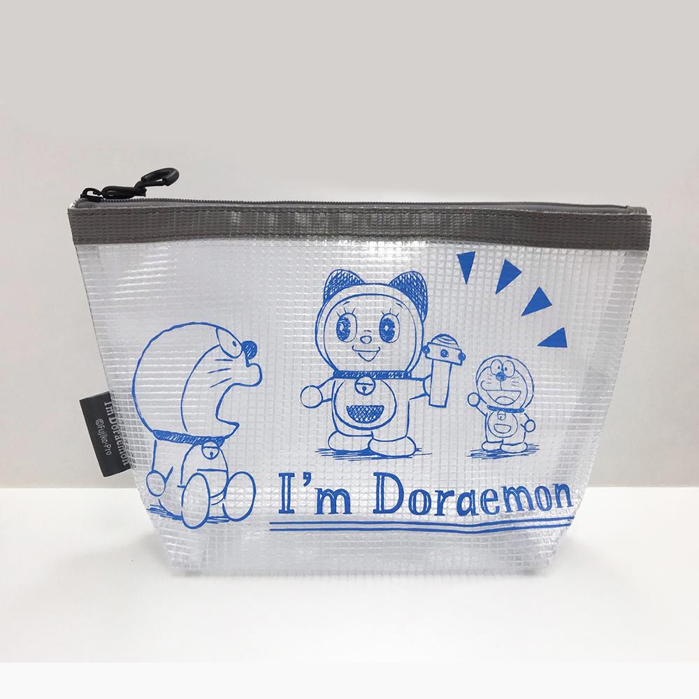 I'm Doraemon ターポリンマチ付きポーチ(GY)