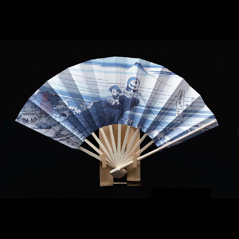 ドラえもん 浮世絵扇子 甲州石班澤