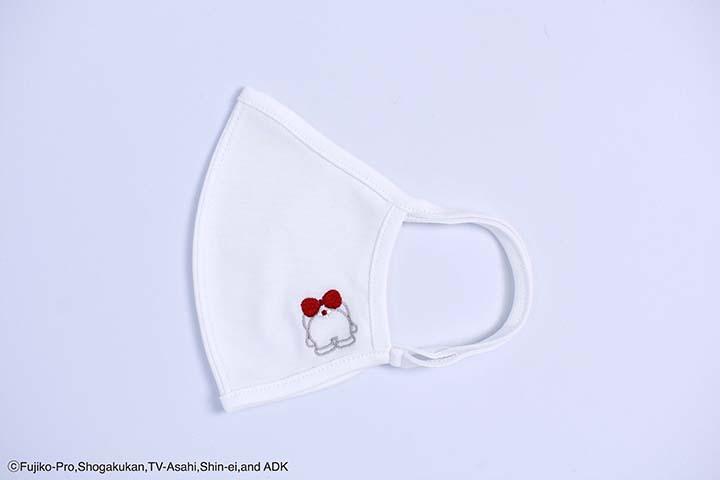 ロコマスク ドラミちゃんのおしり 刺繍 白S