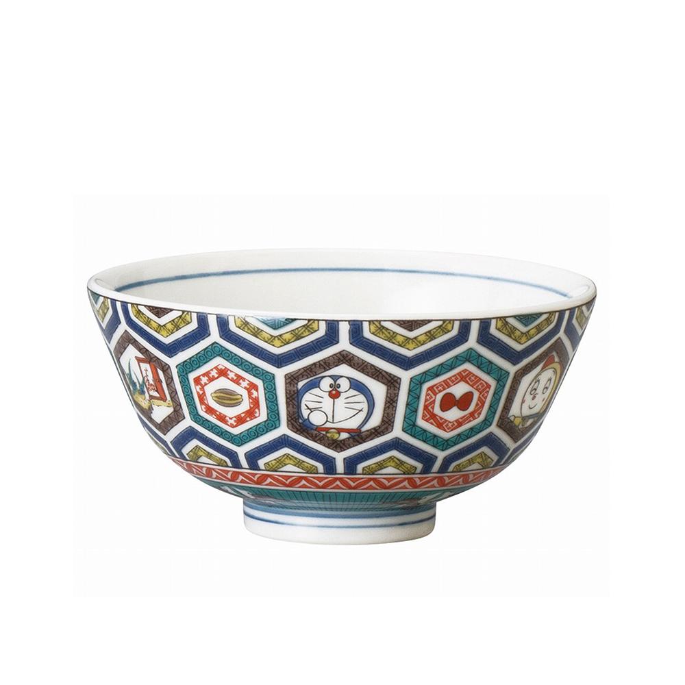 九谷焼茶碗 (古九谷風・亀甲)