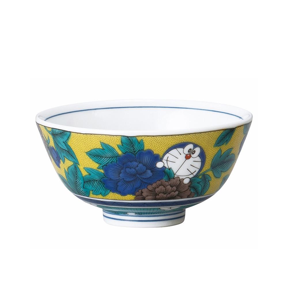 九谷焼茶碗 (吉田屋風・四彩)