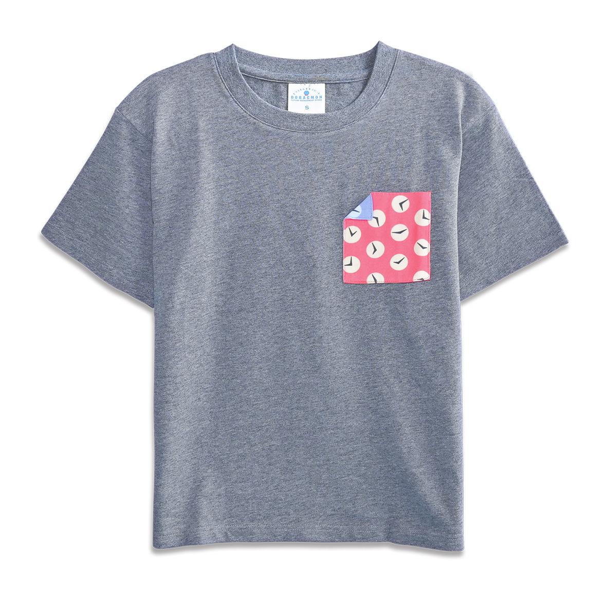 ドラえもん ポケットTシャツ タイムふろしき S