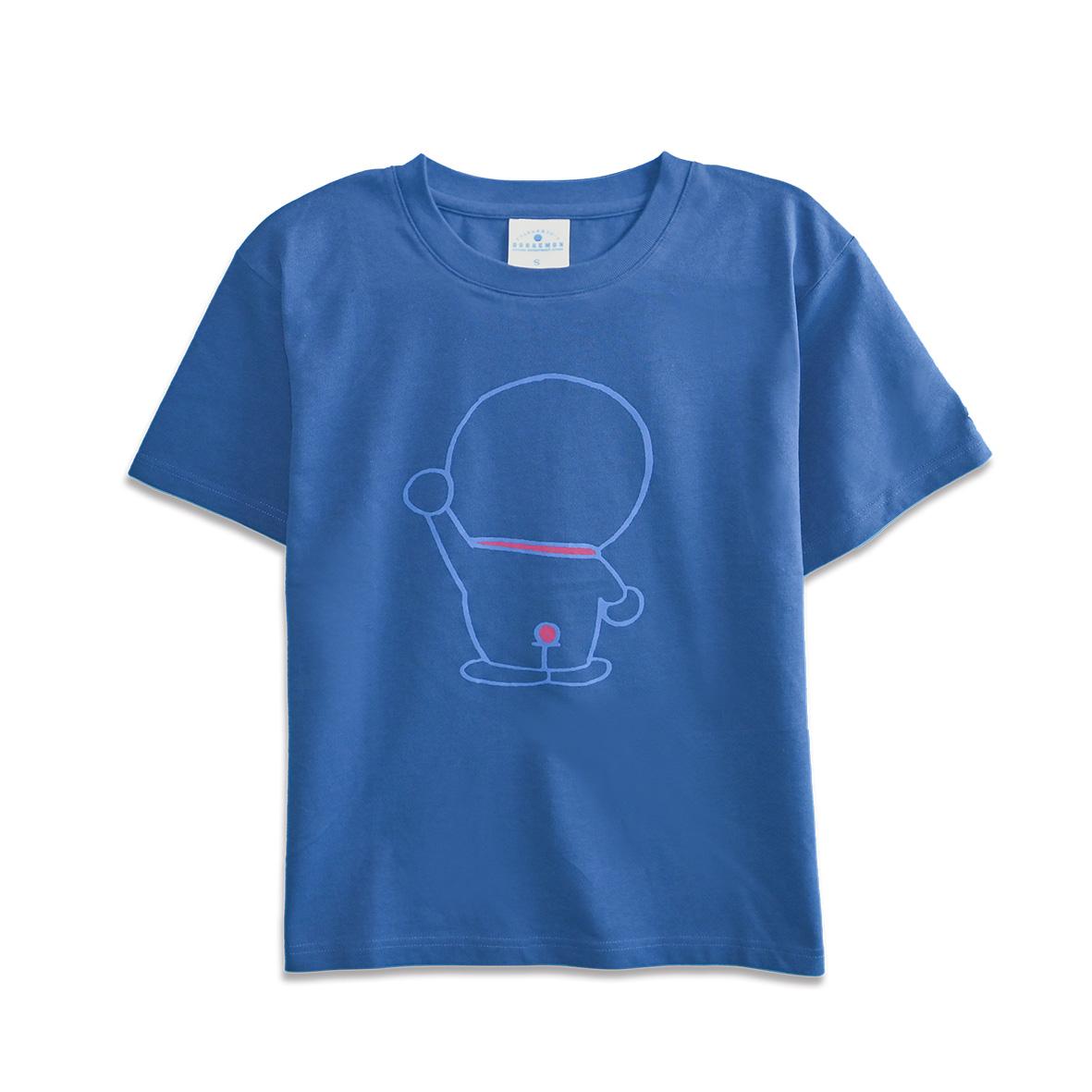 Tシャツ ドラえもん後ろすがた ブルー L