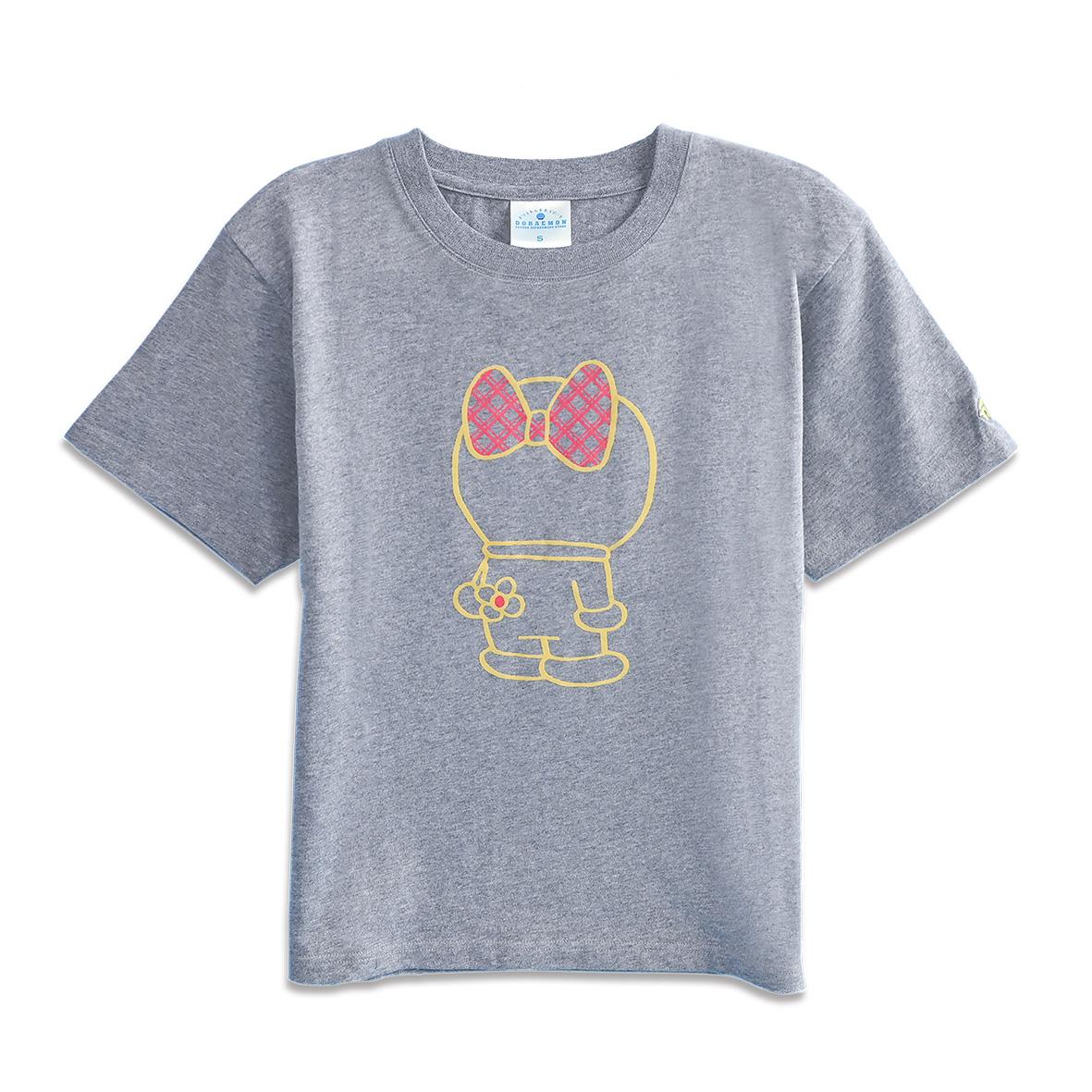 【オンライン限定】Tシャツ ドラミ後ろすがた グレー  L