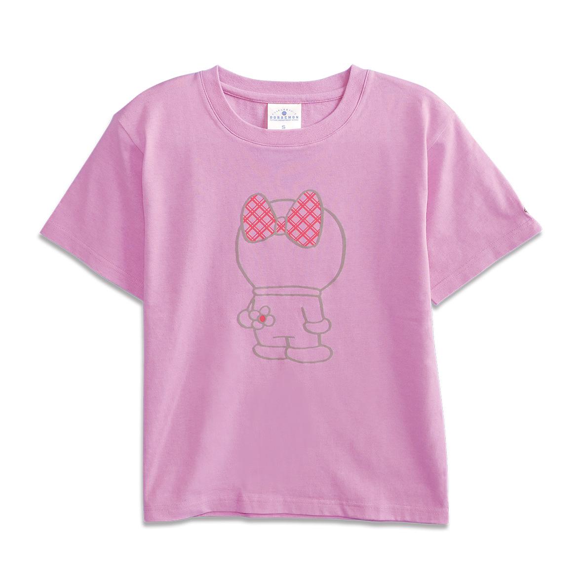 Tシャツ ドラミ後ろすがた ピンク S