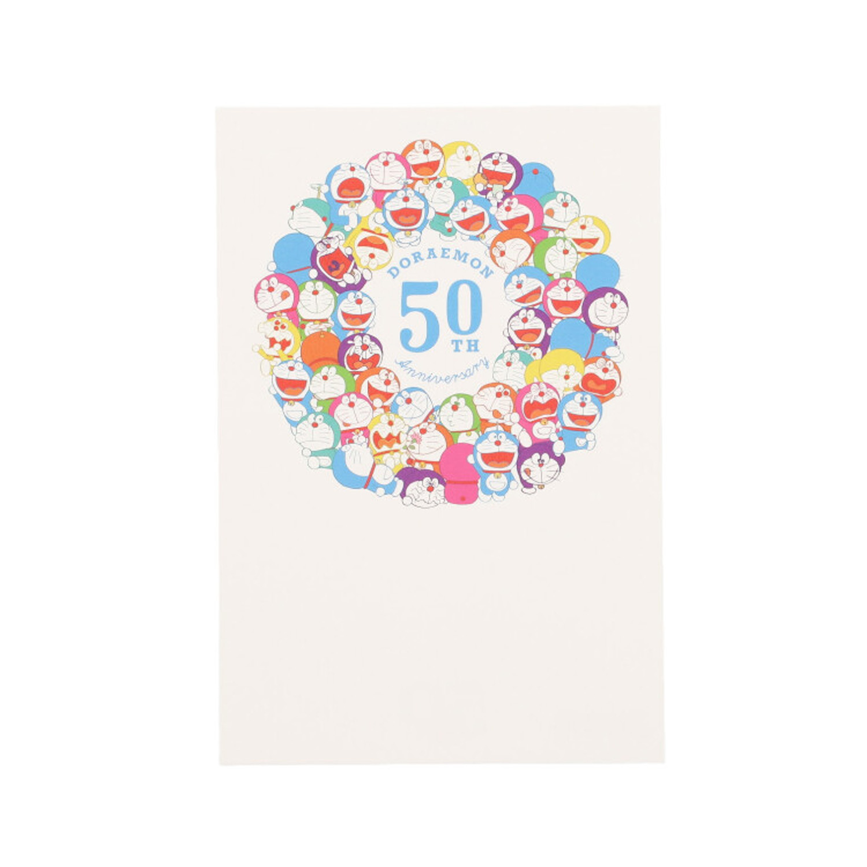 ドラえもん ポストカード 50th 50体サークル カラフル